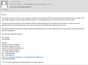 Phishing Email - note the detail attempting to give it an air of legitimacy.