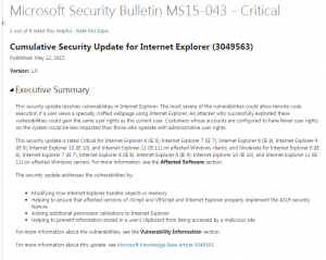 Security Patches - May 2015