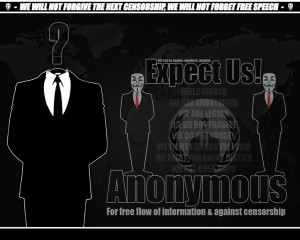 Anonymous - often linked to security breaches