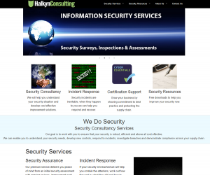 The new Halkyn Consulting Security Services website